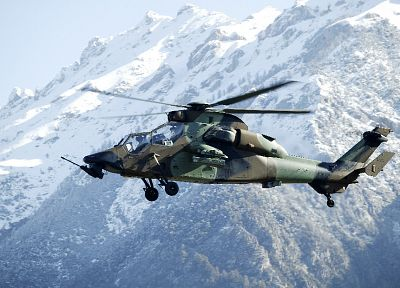 mountains, military, helicopters, vehicles, Tigre french, French army - random desktop wallpaper