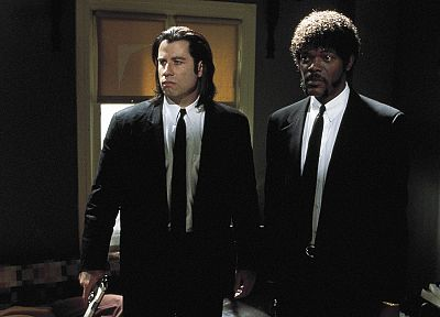 movies, Pulp Fiction, Samuel L. Jackson, John Travolta - random desktop wallpaper