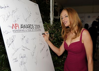 women, Heather Graham, signatures - desktop wallpaper