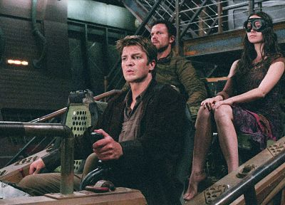 TV, Serenity, Summer Glau, Firefly, screenshots, Nathan Fillion, Adam Baldwin - related desktop wallpaper