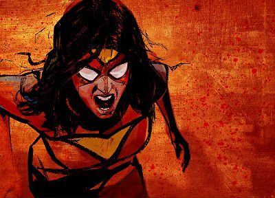 comics, superheroes, artwork, Marvel Comics, comics girls, Spider-woman - random desktop wallpaper