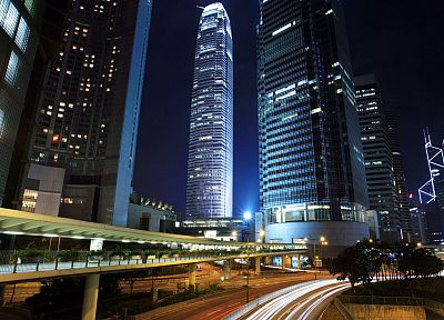 landscapes, cityscapes, Hong Kong, skyscrapers, roads - related desktop wallpaper