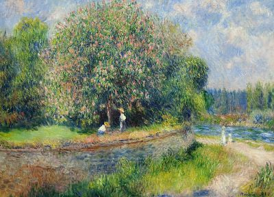 paintings, nature, Renoir, impressionism - related desktop wallpaper