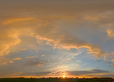 sunset, clouds, landscapes, Sun, panorama, skyscapes - random desktop wallpaper