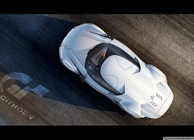white, cars, roads, concept cars, Citroën - desktop wallpaper