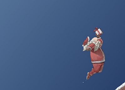 presents, chimneys, Santa - random desktop wallpaper