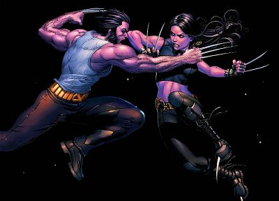 comics, X-Men, Wolverine, superheroes, artwork, Marvel Comics, comics girls, X-23 - random desktop wallpaper
