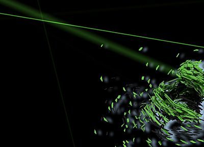 green, abstract, black - random desktop wallpaper