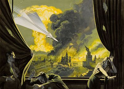military, Moscow, missiles, artwork, nuclear explosions - desktop wallpaper