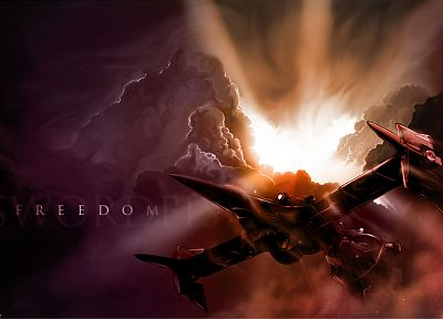 clouds, Cowboy Bebop, soft shading, Swordfish II - random desktop wallpaper