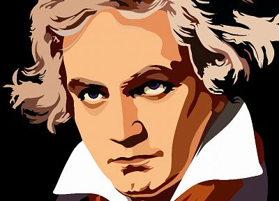 music, men, faces, Beethoven, portraits - random desktop wallpaper