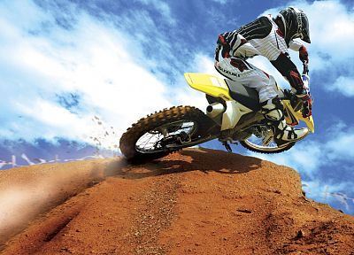 cross, sports, Suzuki, vehicles - desktop wallpaper