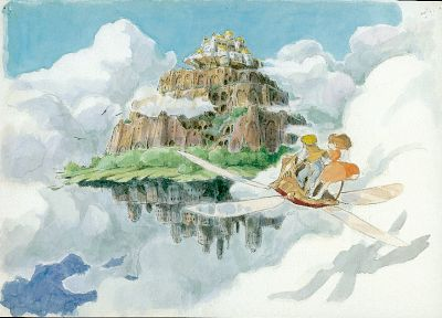 pazu, Studio Ghibli, Laputa castle in the sky, Sheeta - random desktop wallpaper