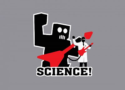 science, robot, guitars - desktop wallpaper