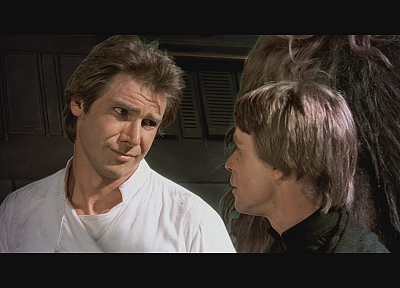 Star Wars, Luke Skywalker, screenshots, Han Solo, Harrison Ford, Mark Hamill, wookiee - related desktop wallpaper