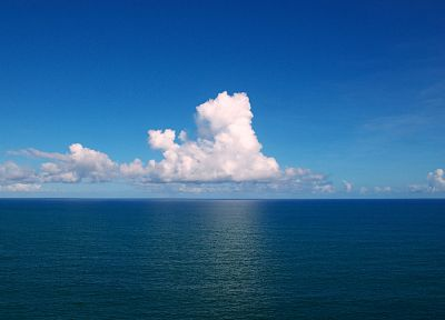 ocean, clouds, horizon - related desktop wallpaper