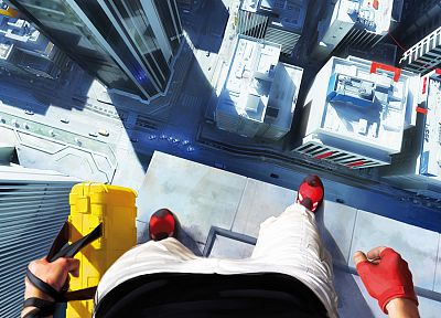 Mirrors Edge, case, Faith Connors, town view - random desktop wallpaper