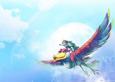 video games, Link, The Legend of Zelda, artwork, The Legend of Zelda: Skyward Sword, SOAR - related desktop wallpaper