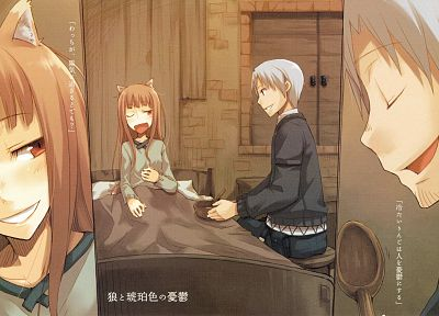 Spice and Wolf, animal ears, Craft Lawrence, moe (anime concept), Holo The Wise Wolf - random desktop wallpaper