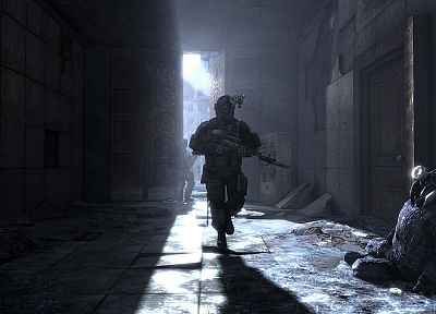 soldiers, video games, Metro 2033 - related desktop wallpaper