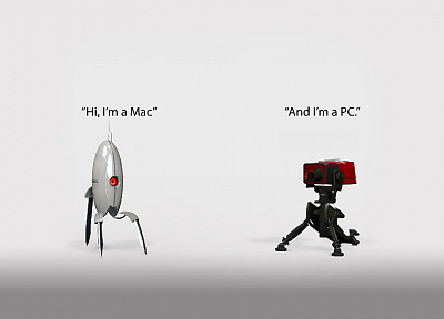 video games, Valve Corporation, Portal, Mac, PC, Team Fortress 2, Turret - related desktop wallpaper