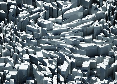 abstract, digital art, 3D, cities - desktop wallpaper