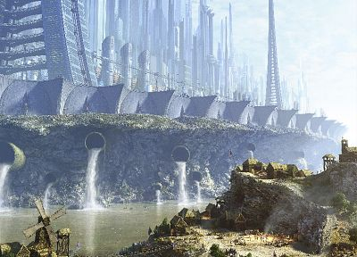 landscapes, cityscapes, futuristic - related desktop wallpaper