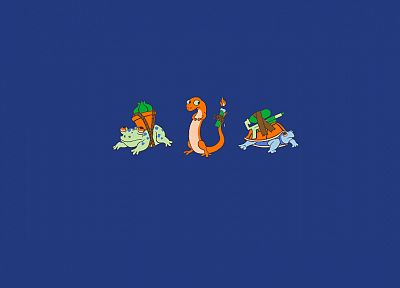 Pokemon, Bulbasaur, turtles, Squirtle, lizards, frogs, Charmander - desktop wallpaper