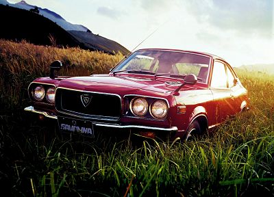 cars, Mazda, vehicles, red cars, Mazda Savanna - desktop wallpaper