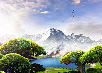 fantasy, mountains, Country - random desktop wallpaper