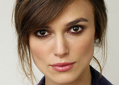 brunettes, women, actress, Keira Knightley, faces - related desktop wallpaper