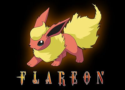 Pokemon, Flareon, black background - related desktop wallpaper