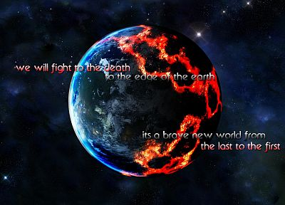 outer space, planets, quotes, lyrics, 30 Seconds to Mars - desktop wallpaper