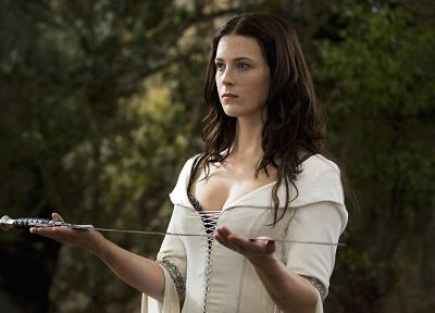 women, Bridget Regan, Legend Of The Seeker, The Seeker, swords - related desktop wallpaper