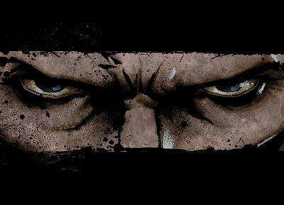 video games, eyes, men, Infamous, artwork, faces - related desktop wallpaper