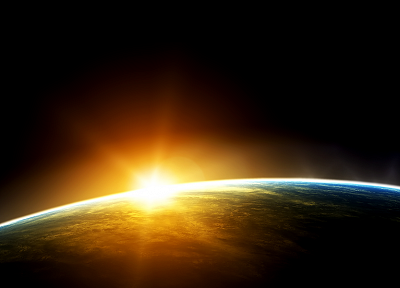 Sun, outer space, Earth, sunlight - random desktop wallpaper