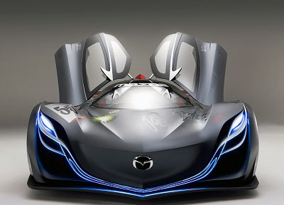cars, Mazda, vehicles, supercars, concept cars, Mazda Furai, front view - desktop wallpaper