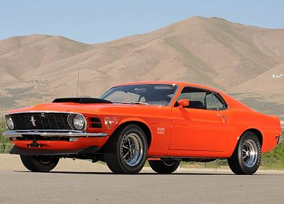 cars, Ford, muscle cars, vehicles, Ford Mustang, orange cars - random desktop wallpaper