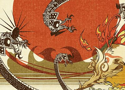 video games, Okami - random desktop wallpaper