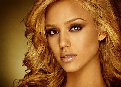 blondes, women, Jessica Alba, actress, faces - desktop wallpaper
