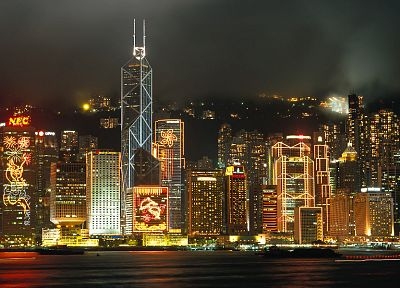 cityscapes, skylines, buildings, Hong Kong - desktop wallpaper