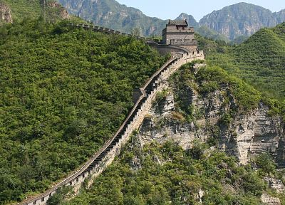 China, wall, architecture, Chinese, Great Wall of China - desktop wallpaper