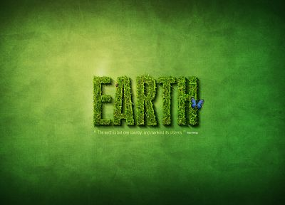 green, minimalistic, text, grass, Earth, typography - related desktop wallpaper