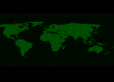 green, retro, cyberpunk, ascii, maps, world map - related desktop wallpaper