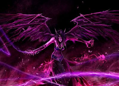 League of Legends, Morgana the Fallen Angel - related desktop wallpaper