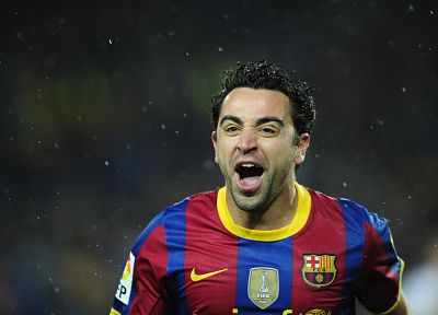 sports, soccer, FC Barcelona, Xavi Hernandez - random desktop wallpaper