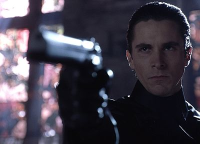 Equilibrium, pistols, men, Christian Bale, screenshots, actors - random desktop wallpaper