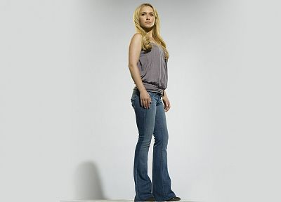 blondes, women, jeans, actress, Hayden Panettiere, celebrity - related desktop wallpaper