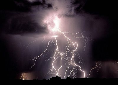 nature, dark, storm, lightning - random desktop wallpaper