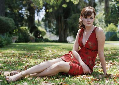 women, Alexis Bledel, grass - random desktop wallpaper